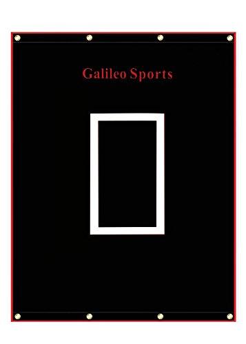 Galileo Vinyl Backstop Baseball/Softball Tarpaulin Backstop Batting cage Target with Bungees 5x6