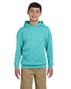- 996Y Jerzees Youth NuBlend Hooded Pullover Sweatshirt , Scuba Blue , Small