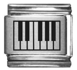 Piano Keys Laser Italian Charm