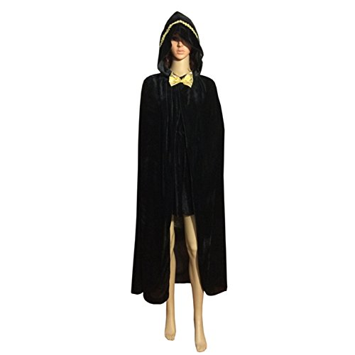 Smartcoco Halloween Cosplay Bow Tie Hooded Sleeveless Cloak Adult Halloween Party Costumes Capes(S-XL) - Renaissance Falconer Costume