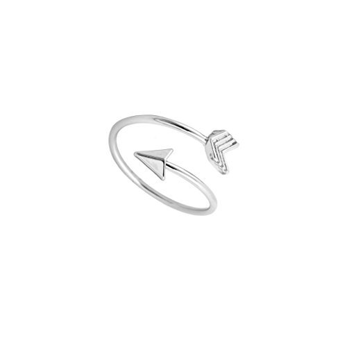 Arrow Ring, Graduation Ring, Inspirational Ring, Travel Ring Toe Ring (silver-and-stainless-steel)