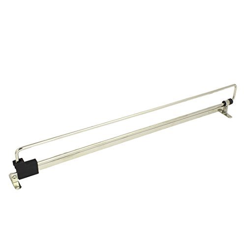 DealMux Wardrobe Cupboard 450mm Length Top Mount Pull out Retractable Rail Close ()