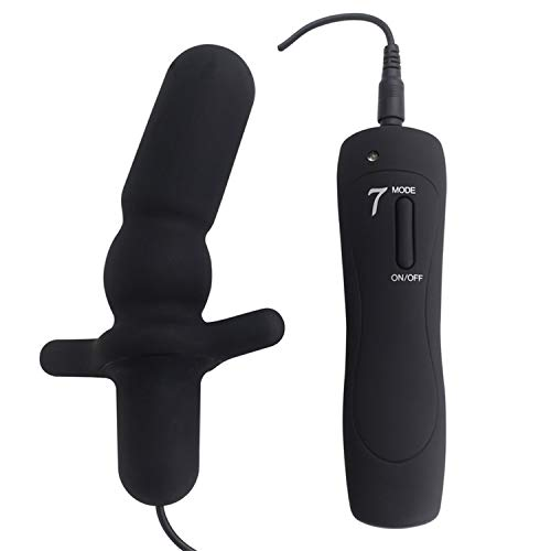 Butt Sex Plug 7 Modes Silicone Anal Vibrator Sex Toy for Adult Vibrating Butt Plug S/L Anus Stimulation Sex Product Masturbator,Black Small,Butt Play Plug Women Toys Cat Tail