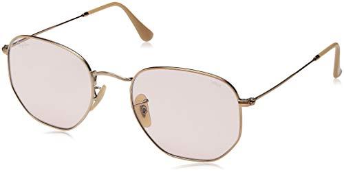 Ray-Ban RB3548N Hexagonal Evolve Photochromic Flat Lenses Sunglasses, Copper/Pink Photochromic, 54 mm ()