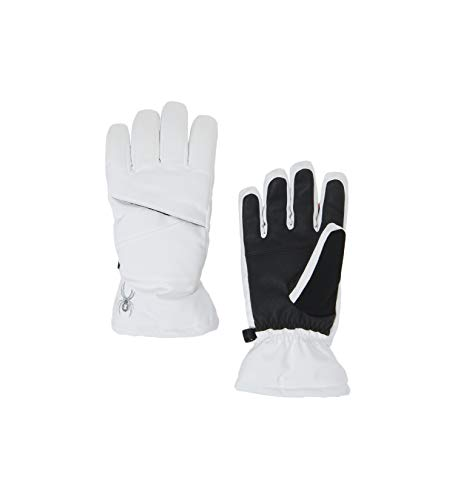 Spyder Girls' Astrid Ski Glove, White/Black, ()