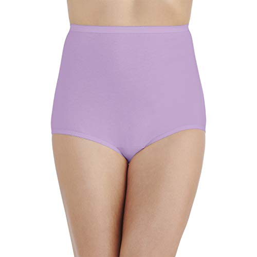 (Vanity Fair Women's Perfectly Yours Tailored Cotton Brief Panty 15318, Wild thistle, 3X-Large/10)