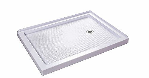 DreamLine SlimLine 36 in. x 60 in. Double Threshold Shower Base, Right Hand Drain, DLT-1036602