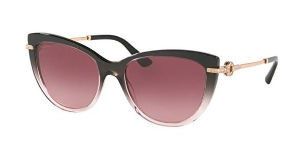 Amazon.com: Gafas de sol Bvlgari BV 8218 B 54498H negro ...