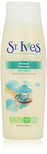 St. Ives Mineral Therapy Moisturizing Body Wash Unisex, 13.5 Ounce