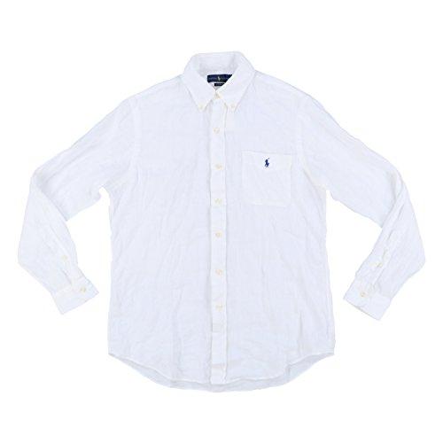 RALPH LAUREN Mens Button Up Long Sleeve Linen Shirt (X-Large, ()