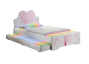 Excelente calidad Blanco piel sintética único de la Unión Europea los niños de cama con estampado