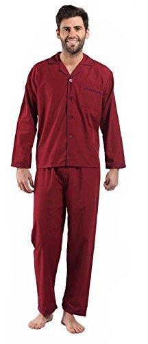 Hombre Talla Grande Liso Tradicional Pijama Clásico Set Camisa De Dormir Con Par de Skechers Calcetines