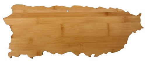Totally Bamboo State Cutting & Serving Board - Puerto Rico, 100% Bamboo Wood Board for Cooking, Chopping, Serving and (Puerto Rico Water)