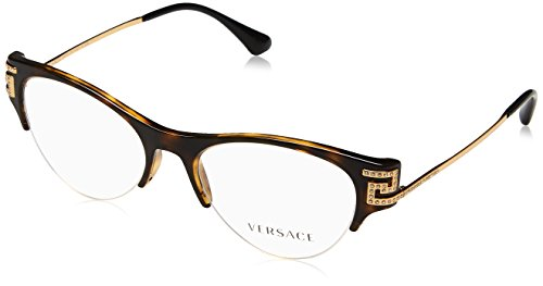 Versace VE3226B Eyeglass Frames 108-51 - 51mm Lens Diameter Havana VE3226B-108-51