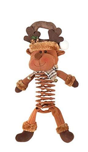 (Northeast Home Plush Holiday Bouncy Door Hanger, 20-Inch (Reindeer))
