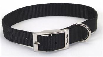 (Coastal Pet Products DCP90122BLK Nylon Standard Single Layer Dog Collar, 22-Inch, Black)