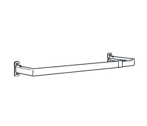 "Single Lock-Seam Curtain Rod 84-120"" Projects 51⁄2"" Bravada Blinds"