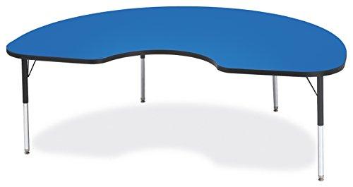 Cheap Berries 6423JCE183 Kidney Activity Table, E-Height, 48″ x 72″, Blue/Black/Black
