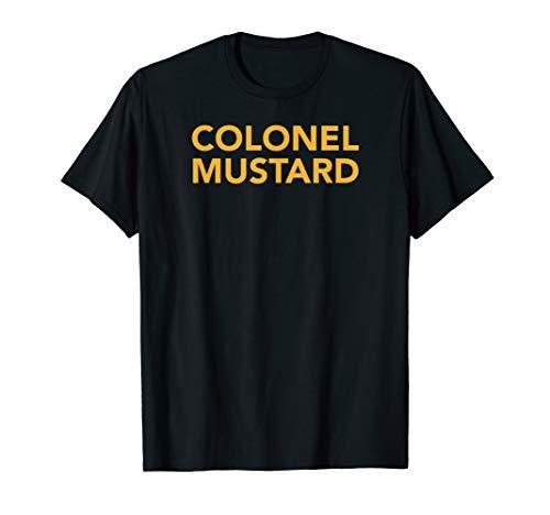 Simple Halloween costume tshirts, Colonel Mustard shirt]()