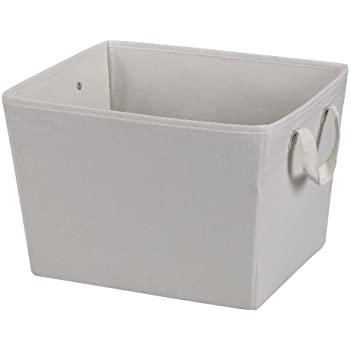 Household Essentials Medium Tapered Fabric Storage Bin With Handles,  Natural Canvas