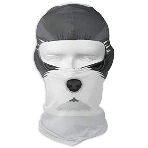 (Balaclava Schnauzer Puppy Funny Pets Full Face Masks UV Protection Ski Hat Womens Headwear for Sports)