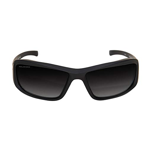Edge Tactical Eyewear TXHG716 Hamel Matte Black with Polarized Gradient Smoke Lens