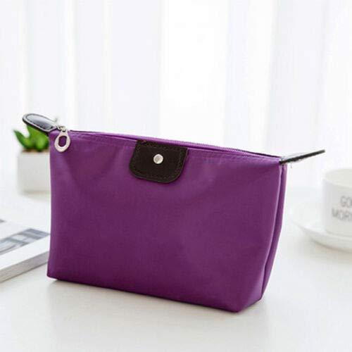 (Waterproof Makeup Bag Pouch Cosmetic Bags Organizer Travel Case Zipper Portable (Color - Purple))