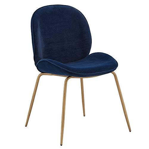 Inspire Q Cyenne Velvet Dining Chairs (Set of 2) by Bold Blue Velvet