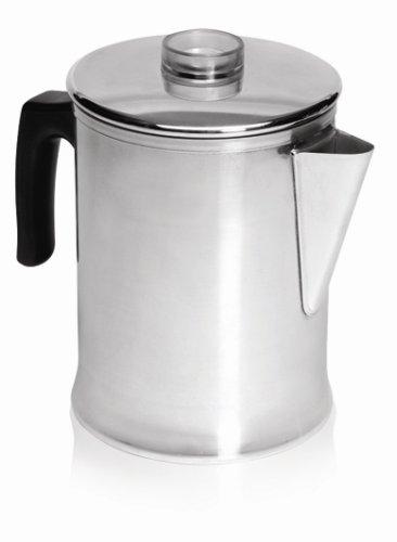 IMUSA USA GAU-00745 Aluminum Coffee Percolator, Silver
