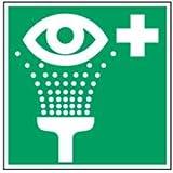 Schild Augenspüleinrichtung PVC 14,8 x 14,8 cm gemäß ASR A 1.3/DIN 4844 (Augenspülung, Notfall, Erste Hilfe Schild) wetterfest