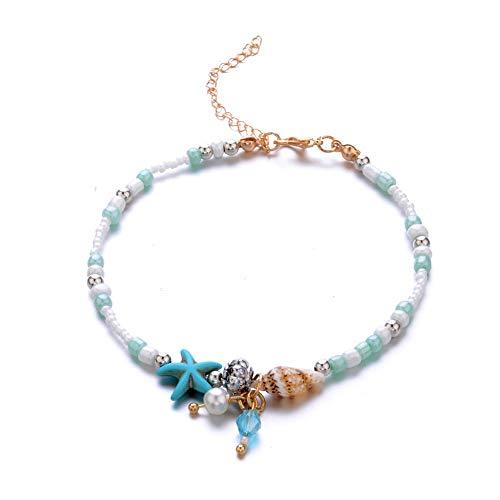 1367318a2 Seashell Anklets for Women Beaded Bohemia Ankle Bracelets Alloy Beach Foot Bracelet  for Women   Girls