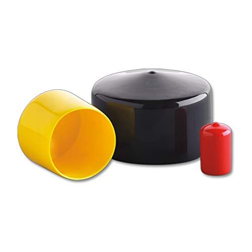 Round Vinyl Caps 3.500 X 1-1/2 Std Black Cap MOCAP RVCC9055-10 (qty40) by MOCAP (Image #2)
