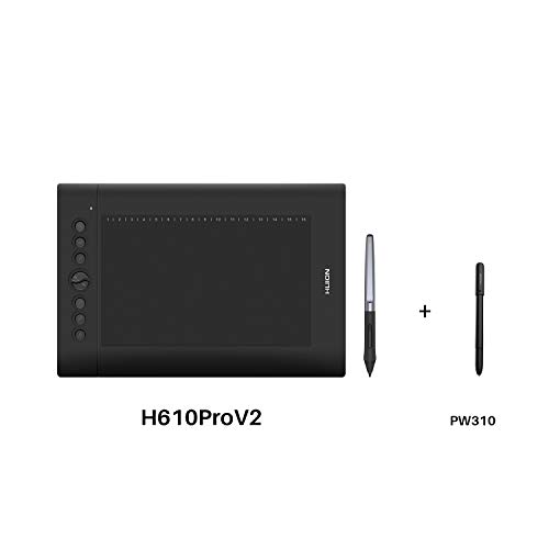 Huion H610 Pro V2 Graphic Drawing Tablet Android Supported with PW100 and Huion Scribo PW310