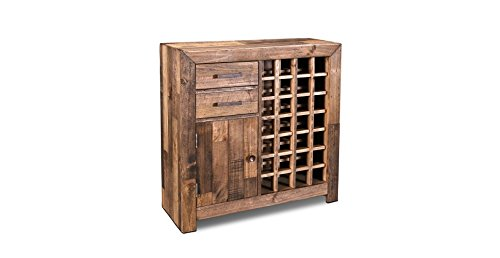Crafters and Weavers Rustic Style Fulton Wine Rack / Liquor Cabinet