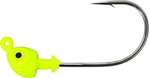 Strike King Saltwater Flats Jig Head Bait (Chartreuse, 0.125-Ounce)