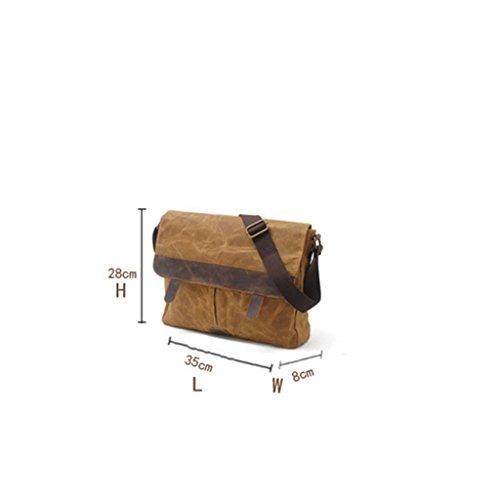 Camera Negro bandolera NONGNIML ImpermeableBolsos de Cera Bolsas Bolsa Cuero de para Bag de Bolsa Vintage de de Mensajero Bolsa Casual Lona Hombre negro Aceite Hombro qHwA1q