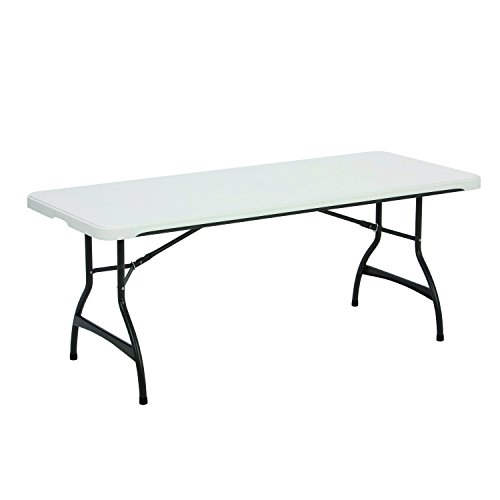 Lifetime 80306 Commercial Stackable Folding Table, 6', White (Outdoor Commercial Furniture Manufacturers)