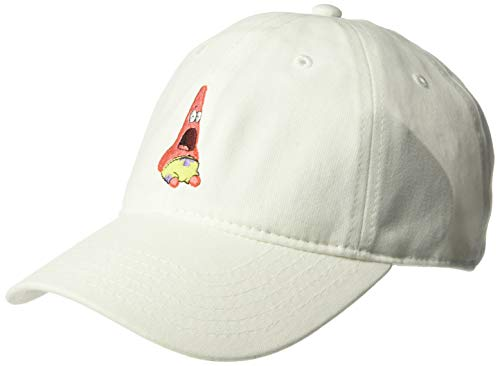 (SpongeBob SquarePants Men's Surprised Patrick Star Baseball Cap, White, One Size)