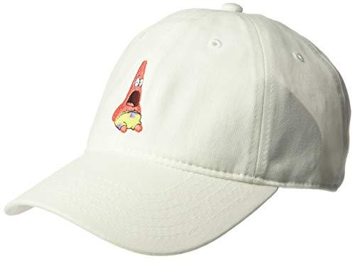 SpongeBob SquarePants Men's Surprised Patrick Star Baseball Cap, White, One Size -