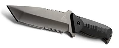 Gerber Warrant Knife, Serrated Edge, Tanto, with Camo Sheath [31-000560] by Gerber Legendary Blades :: Combat Knife :: Tactical Knife :: Hunting Knife :: Fixed Blade Knife :: Folding Blade Knife