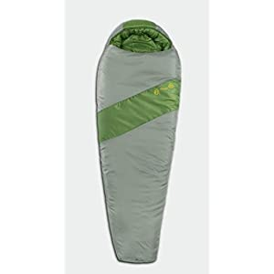 Eureka! Cypress 15-Degree Junior Sleeping Bag, Green/Grey (3 Pounds 7 Ounces)