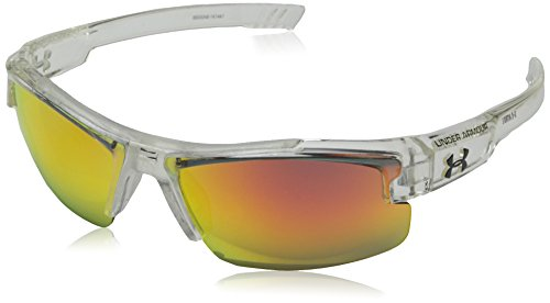 (Under Armour Nitro L Youth Large 8600048-141441 Sunglasses, Shiny Crystal Clear, 59 mm)