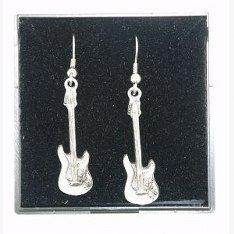 Buena Calidad Estaño Inglés Guitarra Eléctrica Diseño Pendientes, Precioso Idea De Regalo: Amazon.es: Hogar