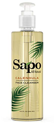 (Sapo All Natural Calendula Face Cleanser. Healing, Renewing and Restoring Facial Cleanser. A Facewash for All Skin Types with Vitamin B, C and E. Great For Combination Skin. Made in the US - 8.5 Oz)