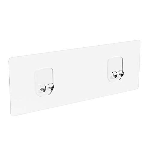 ODesign Transparent Adhesives for Corner Bathroom Shelf and Toilet Paper Holder with Shelf [4 PACK] (Transparent Toilet)