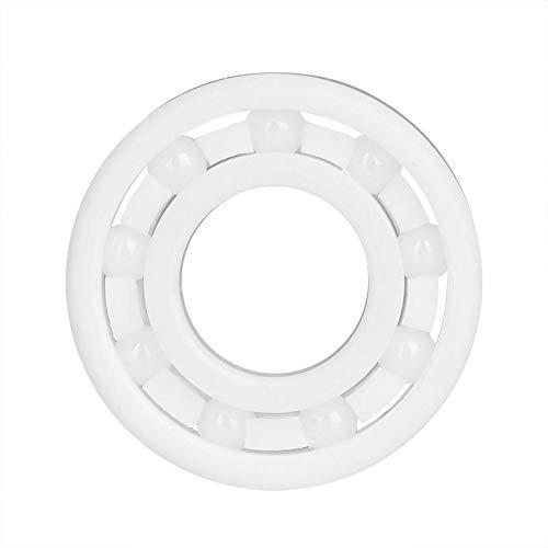 Fevas Standardization 6900 White ZrO2 Ball Bearing High Accuracy Full Ceramic Bearings 10 x 22 x 6mm - (Outer Diameter: 22mm, Inner Diameter: 10mm, Number of Pcs: 1, Color: White)