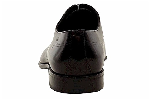 Hugo Boss Mens Cissio Zwart Lederen Mode Oxfords Schoenen