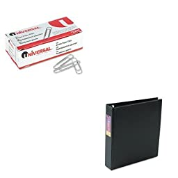 KITAVE79991UNV72220 - Value Kit - Avery Heavy-Duty Binder with One Touch EZD Rings (AVE79991) and Universal Smooth Paper Clips (UNV72220)