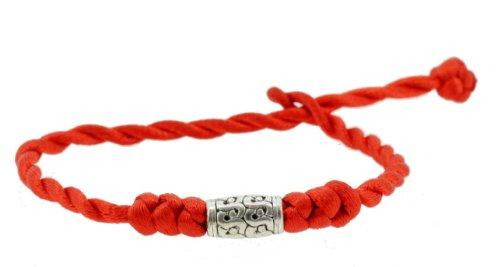 Handmade Bead Red String Bracelet, Lucky Knot Kabbalah Red String Bracelet