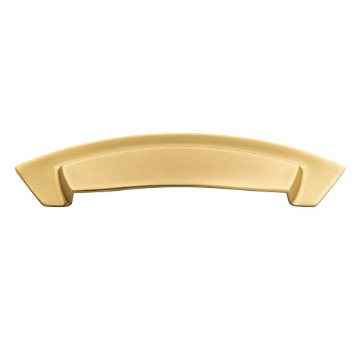 Hickory Hardware HH74642-FUB Velocity Cup Pull, 3 Inch and 3-3/4 Inch (96mm) Center to Center, Flat Ultra Brass ()